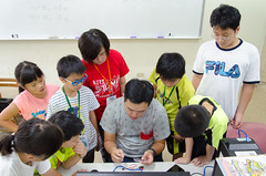DSC_0777 (roger528852momo) Tags: 2016           little staff person explore summer camp hokuzine ever worker china youth corps ying qiao elementary school arduino robot food processing workshop taipei taiwan roger huang roger528852momo