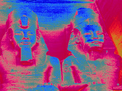COLOR (florencia mele fabris) Tags: color recolored abu simbel ramses nefertari egypt egipto colores templo egipcio architecture arquitectura colours