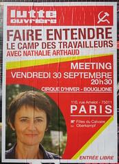 Faire entendre le camp des travailleurs (emmanuelsaussieraffiches) Tags: affiche politique political poster lutteouvrire