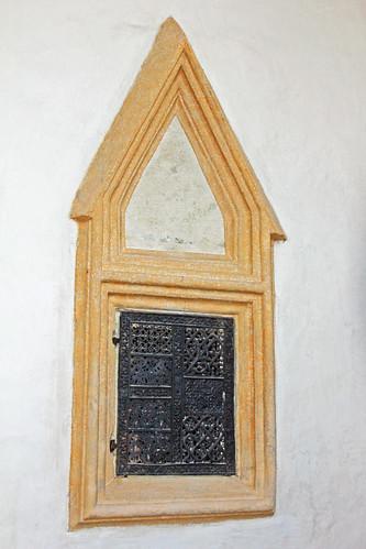 Friedersbach. Pfarrkirche. Chor. Tabernakelnische, 1460