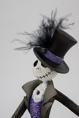 Couture de Force Jack Skellington Figurine by Enesco - Disneyland Purchase - Portrait Right Front View (drj1828) Tags: us disneyland dlr 2016 figurine nightmarebeforechristmas sally couturedeforce purchase enesco