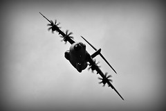A400M (Explored) (Steve.T.) Tags: riat16 riat blackandwhite bnw mono propblur nikon d7200 flying aviationphotography militaryaviation militaryaircraft airshow militarytransport transporter airdisplay raffairford gloucestershire sigma70300 airplane a400mairbus