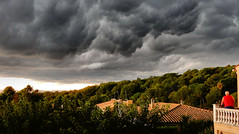 The weather yesterday afternoon. (Meino NL) Tags: weather wolken clouds rain regen onweer thunderstorm