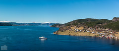 Kvanne in panorama (Ronny Kvande) Tags: ferry boat water city pano panorama spring aprill landscape seaside