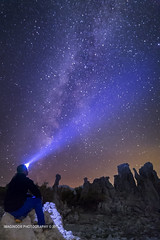 THE GEOLOGIST (Imaginoor Photography) Tags: nightphotography daddy father science galaxy geology monolake startrails milkyway northstar astrolandscape drtarimathossain lancekeming