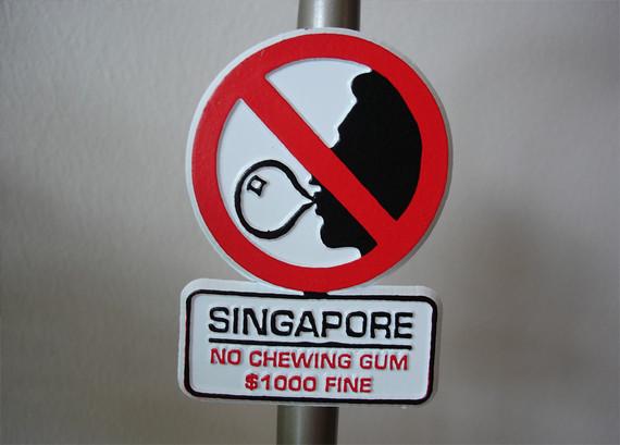 Biển báo cấm tại Singapore