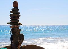 EarthquakeAwarenessMonth (mcshots) Tags: ocean california travel sea sky usa beach water coast rocks afternoon stones stock shoreline blues stack boulders socal balance mcshots swells stacked springtime losangelescounty