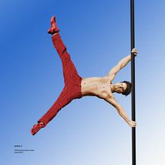 poteau-3 (behemothmedia) Tags: shirtless man male drawing dessin acrobat
