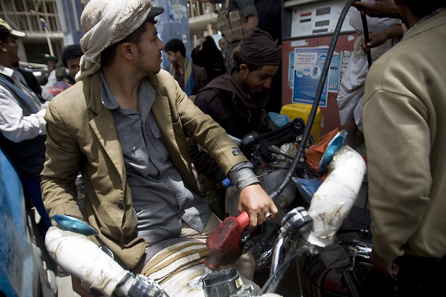 Fuel shortages in YEMEN