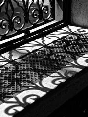 Pattern on Pattern (tim.perdue) Tags: columbus shadow ohio bw sunlight white black art window monochrome museum contrast pattern layers cma