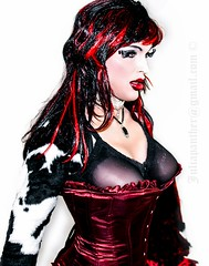 Red corset (Juliapanther Over 23 million views, thanks!!!) Tags: red animal fetish hair print fur see model eyes erotic lashes julia boobs lace burgundy bra gothic goth makeup posing velvet lips sensual redhead exotic wig corset makeover lipstick through tight cleavage diva panther pinup rhinestones busty alternative choker velour sheer kissable juliapanther