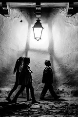 Under the Light (Gigin - NoDigital) Tags: light boy people woman girl kid colombia objects places geography villadeleyva centralandsouthamerica