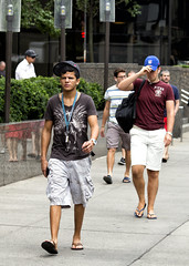 094A3671 v2 (Wheels Down) Tags: nyc reflection cute guy feet legs candid tshirt twink sidewalk cap flipflops hottie shorty braghettoni