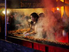 """Smokey Work"" - Night Market, Melbourne (TravelsWithDan) Tags: melbourne australia candid night urban city smoke cooking nightmarket ngc"