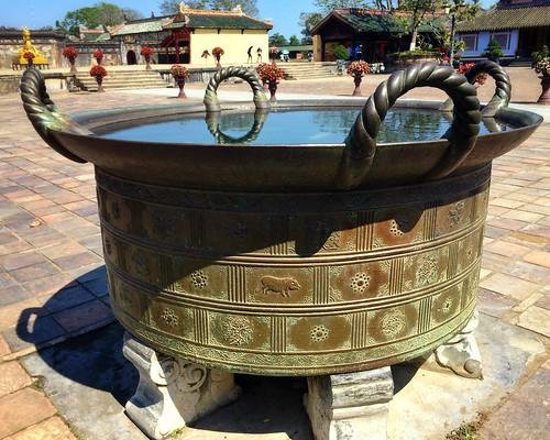 Temple Urns, Imperial Citadel, Hue, Vietnam