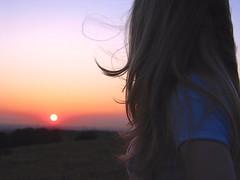 Kara (mgilbuena) Tags: 2003 friends sunset summer woman kara canon hair bay fremont powershot hills scenary g3 goldenhour missionpeak 4star
