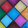Stained Glass 1 (James Andrews1) Tags: art window painting colorful acrylic pattern squares diamond stainglass stainedglasswindow acrylicpainting stainedglass1 squarepattern jamesandrews colorfulpattern colorfulglass diamondpattern colorfulshapes shapepattern colorfulpainting paintingpattern jamesandrewsartist