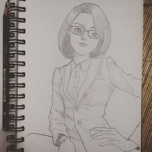 Meet Me After Class Sketch Girls Glasses Pencil Sketchbook