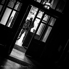 Way Out (Fiverdog) Tags: street manchester shadows streetphotography doorway townhall exit wayout manchestertownhall