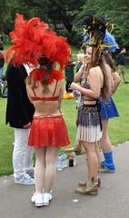 Edinburgh Samba School Girls (Clydesider2014) Tags: street school girls gardens edinburgh samba bra feathers princes straps