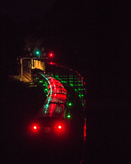 Amtrak 13 passing the stopped NS 214 at Arrowhead (bdunn829) Tags: nightphotography railroad night ns trains nightsky 13 arrowhead norfolksouthern railfanning amtrak13 arrowheadvalleyroad