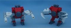 Pink & Blue (Mantis.King) Tags: lego legogaming legomecha moc mechaton mobileframezero mfz mf0 microscale mecha mech scifi wargames futuristic turdbot