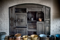 The kitchen, Southwell Workhouse (belincs) Tags: uk kitchen oven july indoor kettle range nottinghamshire pans workhouse 2016 southwell