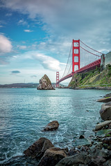 Golden Gate Bridge from Fort Baker (Rich Lonardo Photo) Tags: ocean sanfrancisco city bridge seascape landscape golden seaside gate baker fort pacificocean baybridge sausalito bayareaphotography