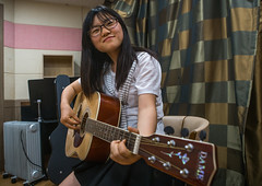 North korean teen defector in yeo-mung alternative school playing guitar, National capital area, Seoul, South korea (Eric Lafforgue) Tags: people musician music woman playing horizontal youth asia sitting guitar refugee young lifestyle player indoors teen seoul sit teenager acoustic youthful plays southkorea youngadult guitarist oneperson teenage defector 1819years lookingatcamera northkorean 1617years 1people nationalcapitalarea colourpicture koreanethnicity sk162367