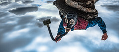 When The End Is Near (ThibaultPoriel) Tags: sky france clouds fly flying fantastic europe mask bretagne olympus adventure explore hero magical heros finistere inception