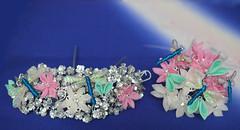 Gion Matsuri Style kanzashi set. Maiko Henshin. (Bright Wish Kanzashi) Tags: pink white dragonflies dragonfly tsumamizaiku tsumamikanzashi kanzashi hairpin upin katsuyama yokozashi maezashi