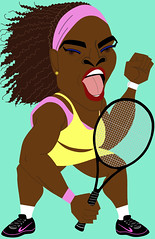 Serena Williams (OshiIllustrator) Tags: celebrity sports rio drawing satire humor tennis entertainment caricature editorial serena olympic athletes wimbledon goldmedal serenawilliams