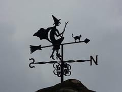 Witch Vane (Thomas Kelly 48) Tags: panasonic lumix fz150 woolton liverpool witch vane witchweathervane