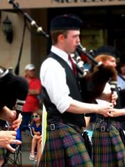 Parade Walkers (e r j k . a m e r j k a) Tags: pennsylvania allegheny sewickley event parade piper bagpipe tartan kilt pa65 i79pa upperohiovalley candid erjkprunczyk familytree sen