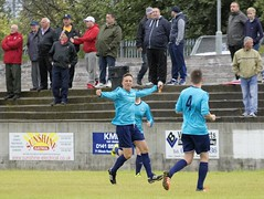 Stewart Brodie has shocked the home support with the opening goal (Stevie Doogan) Tags: clydebank glasgow perthshire exsel group sectional league cup wednesday 10th august 2016 holm park