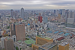Overcast morning over Tokyo   (Anaguma) Tags: japan kanto tokyo tsukiji sumida cityscape