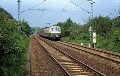 456 106 + 403  bei Zimmern  31.05.86 (w. + h. brutzer) Tags: analog train germany deutschland nikon eisenbahn railway zug trains db 456 eisenbahnen triebwagen zimmern triebzug et56 triebzge webru