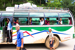 Ready? (cara zimmerman) Tags: nepal bus going