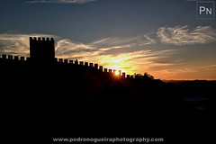 Sunset at Obidos Castle (Pedro Nogueira Photography) Tags: pedronogueira pedronogueiraphotography photography mobilephone telemóvel iphone5 iphoneography obidos obidoscastle sunset sky clouds silhouette medieval portugal