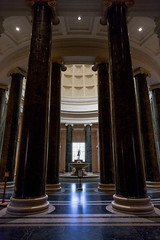 National Gallery #6 (josullivan.59) Tags: washington 3exp reflection travel usa unitedstates interior architecture architectural day downtown dc disctrictofcolumbia geometric june lightanddark canon6d canonef24105mmf4lisusm blue national gallery columns backlit 2016 tra