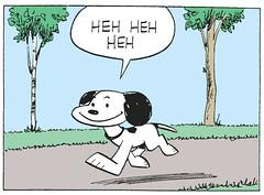 HEH HEH HEH (Tom Simpson) Tags: peanuts charliebrown comics snoopy dog charlesschulz charlesmschulz comicstrip newspapercomics 1954 1950s illustration vintage funny heh