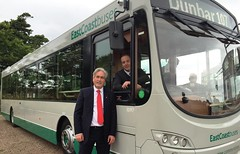 At Archerfield helping announce the launch of the East Coast Buses services
