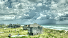 painterly neighbors to the north. with a storm. (Lanamcara) Tags: beachhouses hatteras pregamewinner