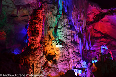 Cave LED (Andrew J Crane Photography) Tags: china travel landscape photography andrew crane prc hawk bird animal wildlife jade dragon mountain yunnan lijiang donjiang lake cave colorful cavern stalagmite