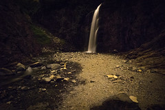 Franklin Falls (bombeeney) Tags: franklinfalls snoqualmiepass a7s zeissloxia21mm pnw pacificnorthwest night dark scary washington