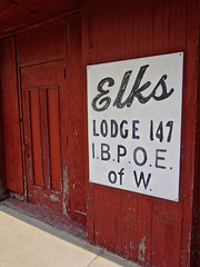 Elks Lodge 147, Danville, IL (Robby Virus) Tags: danville illinois elks lodge club 147 vermilion temple 601 sign signage fraternal organization bpoe benevolent protective order red door front entrance
