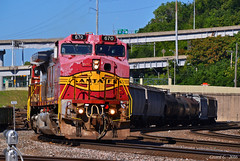 "Southbound Transfer in Kansas City, MO (""Righteous"" Grant G.) Tags: bnsf railway railroad atsf santa fe locomotive warbonnet train trains kansas city missouri transfer"