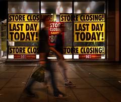 Last Day (stevedexteruk) Tags: bhs british home stores shop shut closed last day sale window night london oxfordstreet uk 2016