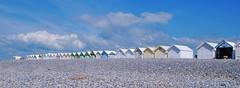 Les cailloux de Cayeux (dominiquita52) Tags: cabines beachhut galets pebbles somme cayeux geometry