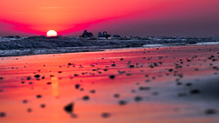 Red Sunset (Juaberna) Tags: red sunset olympus epl6 samyang 85mm f14 puesta de sol playa mar beach